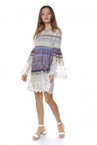 Lace multicolour tunic - Aimelia - DR3718