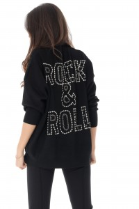 Heavy Knit 'Rock and Roll' Jumper - Aimelia