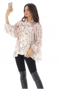 Gorgeous oversized satin shirt, Aimelia - BR2261