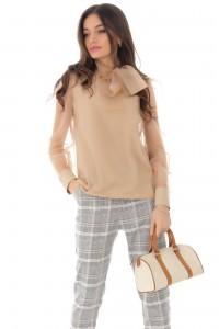 Elegant pussy-bow blouse, Aimelia - BR2264