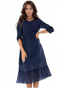 Navy frill dress Aimelia - DR3567