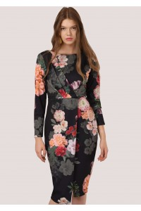 Gorgeous floral midi in a stretch scuba fabric