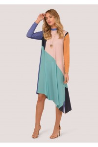 Multicolor long sleeves dress Aimelia