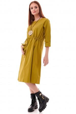 Trendy oversized Lime Tunic - AIMELIA - DR4223