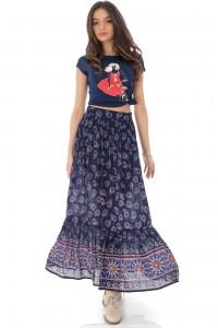 Ethnic printed maxi skirt, Aimelia - FR475