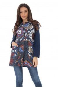 Printed cotton jacket, Aimelia - JR515