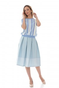 Chic striped top in pastel shades - Aimelia - BR2404