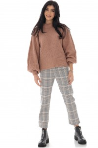 A chunky crop style jumper in powder pink - AIMELIA - BR2393