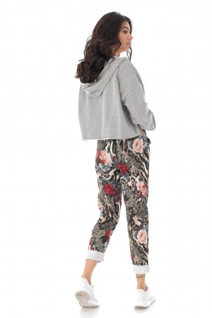 Casual fit printed joggers with 2 side pockets - AIMELIA - TR385