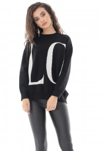 Ladies Soft oversized LOVE jumper - AIMELIA - BR2383
