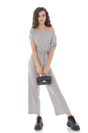 Silver Knitted Jumpsuit - AIMELIA - TR425