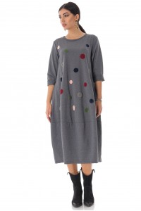 Oversized midi dress, Grey, Aimelia - DR4228