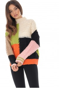 Aimelia high neck Jumper multicolor, Aimelia - BR2155
