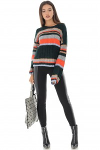 Super soft jumper in contrasting stripes - Aimelia - BR2161