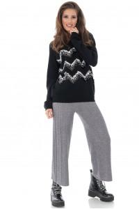 Delicate black jumper with sequins, Aimelia - BR2215