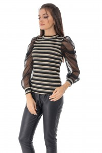 Fine ribbed high neck jumper, Aimelia - BR2223