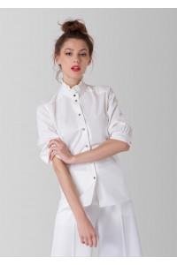 Ivory high neck shirt, Aimelia - BR2231