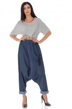 Chic baggy denim trouser - Aimelia - TR397
