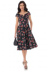 Polka dot printed cotton summer dress - AIMELIA - DR4166