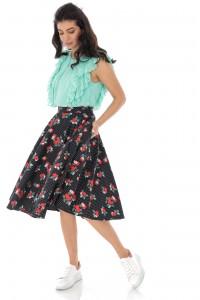 Printed floral skirt - AIMELIA - FR483