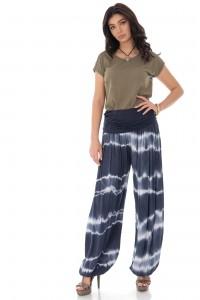 Tye dye harem pants - Navy - AIMELIA - TR372