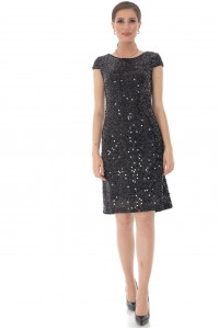 Black sequin shift dress, Aimelia - DR4027