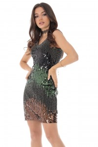 Ombre sequin midi dress, Aimelia - DR4033
