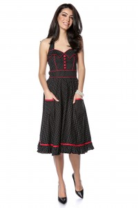 Cute 50's style polka dot midi - AIMELIA - DR4129
