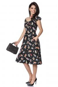 Cotton summer dress with cocktail print - AIMELIA - DR4133