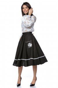 Full circle cotton midi skirt - Aimelia - FR476