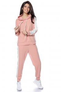 Pink Lightweight casual 2 piece tracksuit  - AIMELIA - TR362