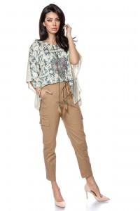 Classic cotton cargo pants - Beige - AIMELIA - TR363