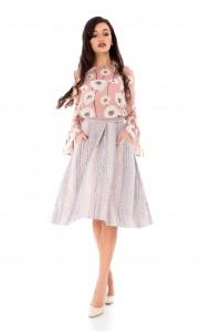 Elegant midi skirt by Aimelia-FR361