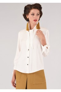 Cream bow-tie neck blouse Aimelia - BR2118