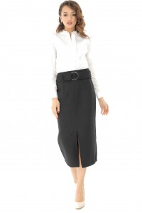 Black midi pencil skirt Aimelia - FR432