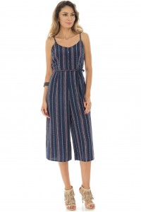 Striped jumpsuit, printed, Aimelia - TR318