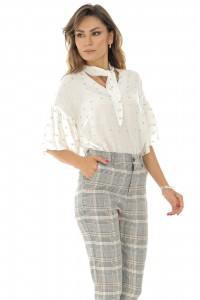 Ofiice trousers in checkered, Aimelia - TR321