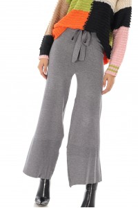 Knitted grey trousers, Aimelia - TR340