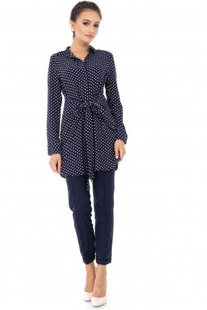 Navy polka dot shirt Aimelia - BR1881